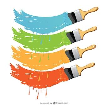Set di pennelli vector