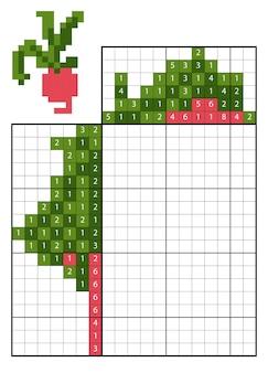 숫자퍼즐(노노그램)으로 색칠하기, 어린이 교육용 게임, 무