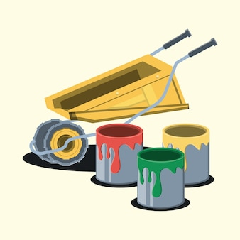 Paint cans design