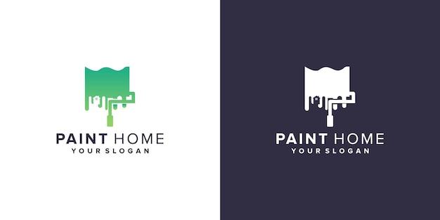 Paint home logo design