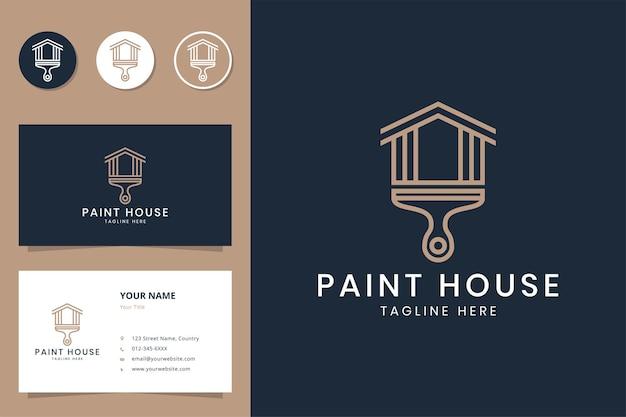 ペイントハウスラインのロゴデザイン
