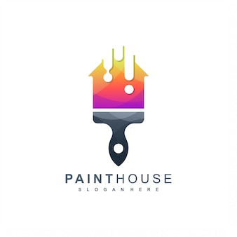 Paint house logo ready to use