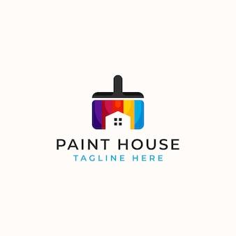 Шаблон логотипа paint house, изолированные на белом фоне