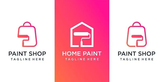 Paint logo  template logo design