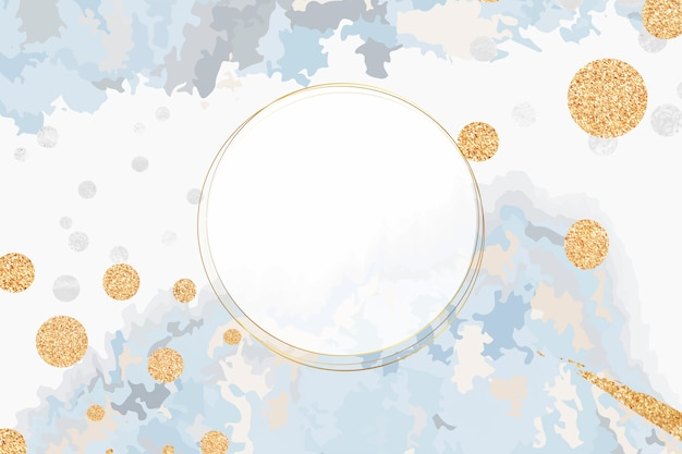Paint pour background with round frame vector