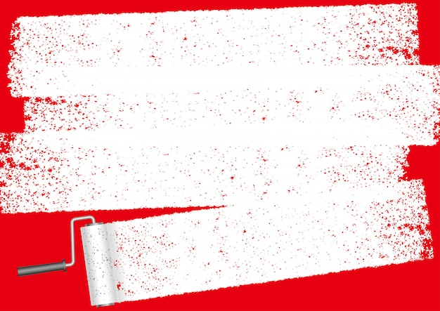 Paint roller abstract background with copyspace