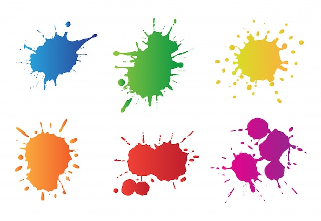 Paint splatters set
