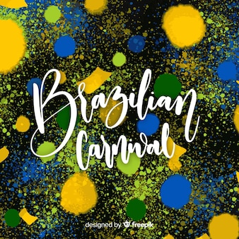 Paint spots brazilian carnival background