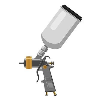 Paint spray gun professional tool airbrush isolated