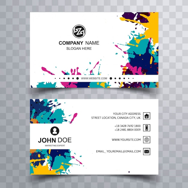 Paint stains business card
