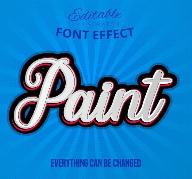 Paint text, editable font effect
