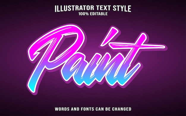 Paint text style effect