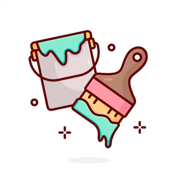 Paint tool  concept illustration