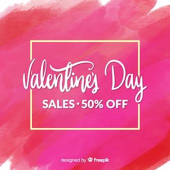 Paint valentine sale background