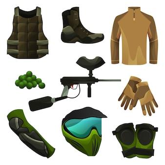 Пейнтбольное оборудование или игровые аксессуары, комплект защиты