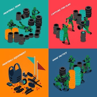 Paintball isometric compositions