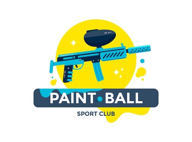 Шаблон логотипа спортивного клуба пейнтбола