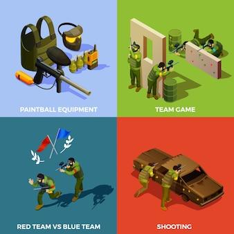 Концепция дизайна пейнтбольной команды