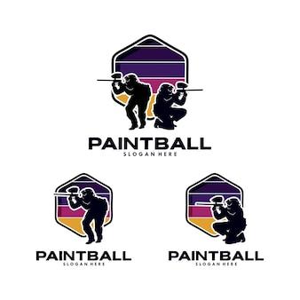 Paintball team logo design template