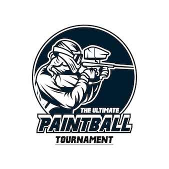 Paintball tournament logo template badge