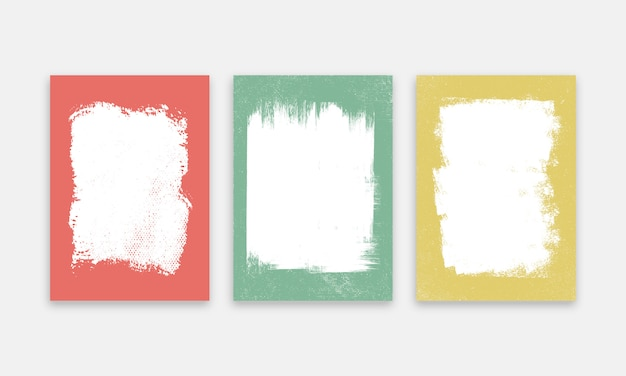 Paintbrush cover background set