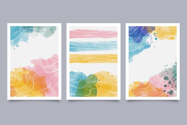 Painted abstract art cover collection