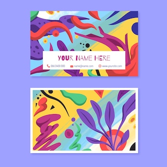 Painted abstract business card