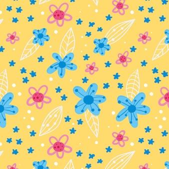 그린 된 추상 꽃 패턴