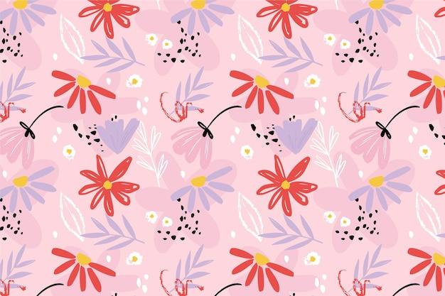 Окрашенные абстрактный цветочный узор