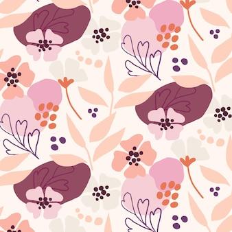 塗られた抽象的な花柄