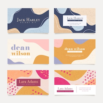 Painted business card collection
