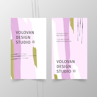 Painted business card concept