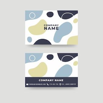 Окрашенная концепция шаблона визитной карточки