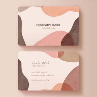 Painted business card template