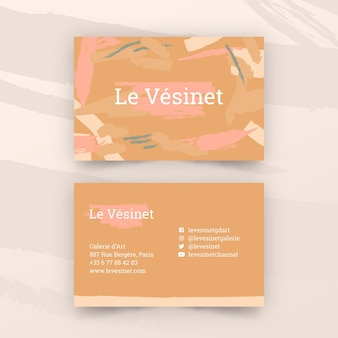 Painted business card