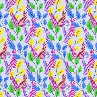 그린 된 화려한 이국적인 꽃 패턴
