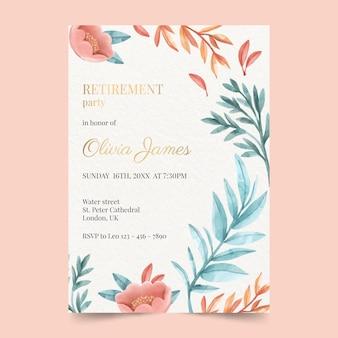 塗られた創造的な退職グリーティングカード