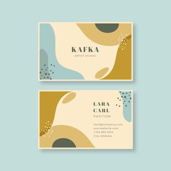 Painted design artist business card