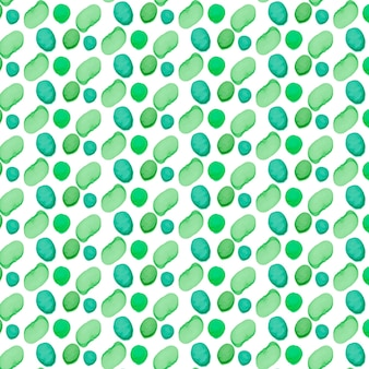 Painted green dotty shapes seamless pattern