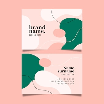 Painted modern business card template