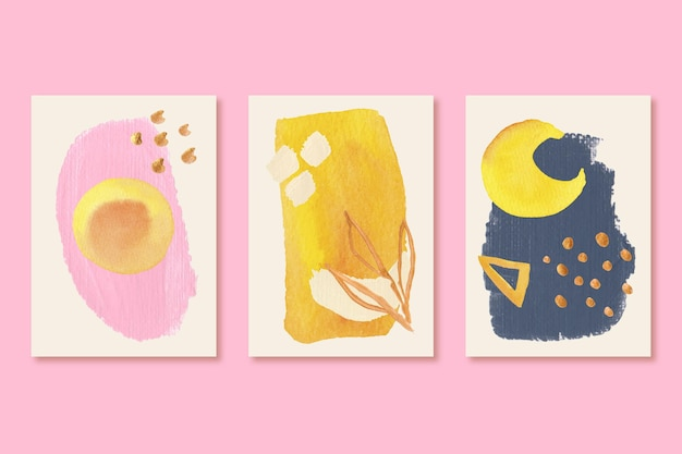 Painted shapes covers pack