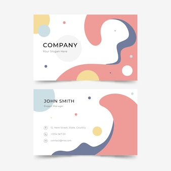 Painted template for business card