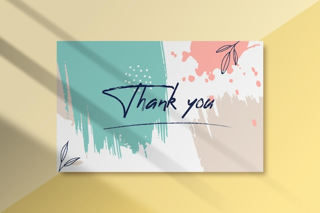 Painted thank you label template