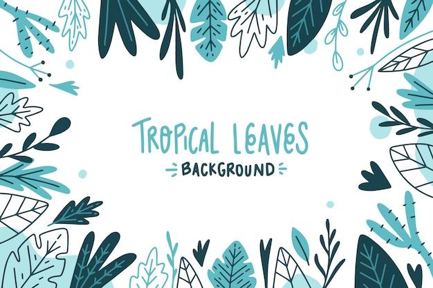 Окрашенные тропические листья фон