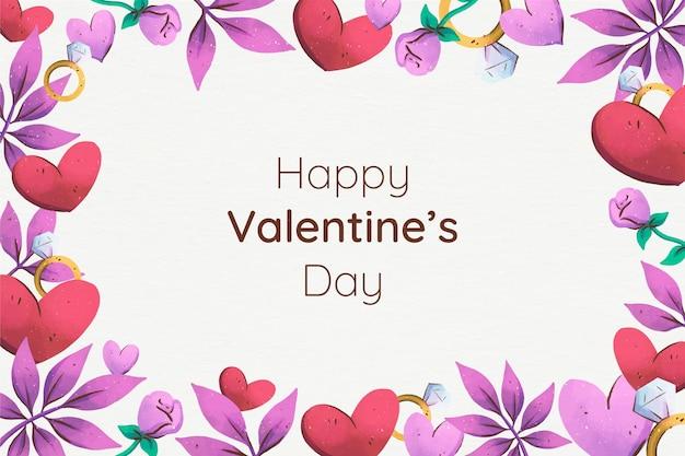 그린 된 발렌타인 데이 배경