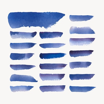 Окрашенный акварельный фон в синем