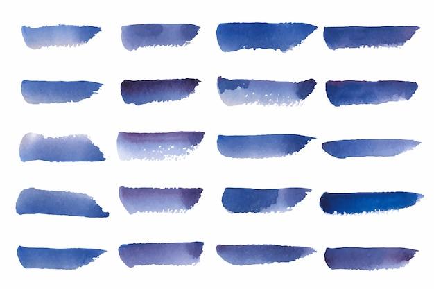 Окрашенный акварельный фон в синем Бесплатные векторы