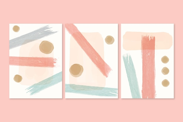 Painted watercolor shapes covers