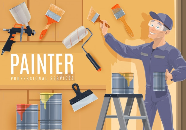 Painter profession of construction industry