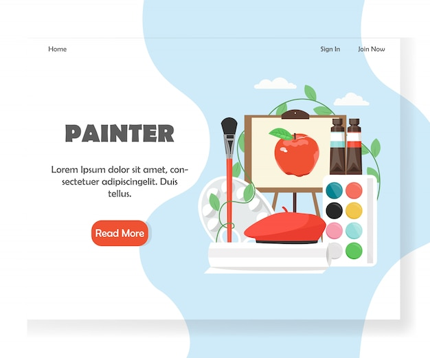 Painter website landing page template